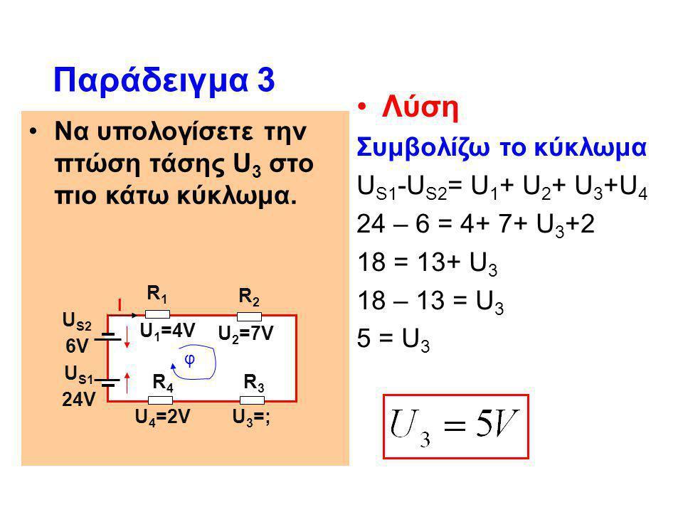 Παράδειγμα 3 Λύση Συμβολίζω το κύκλωμα