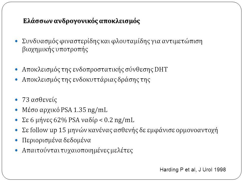 Αποκλεισμός της ενδοπροστατικής σύνθεσης DHT