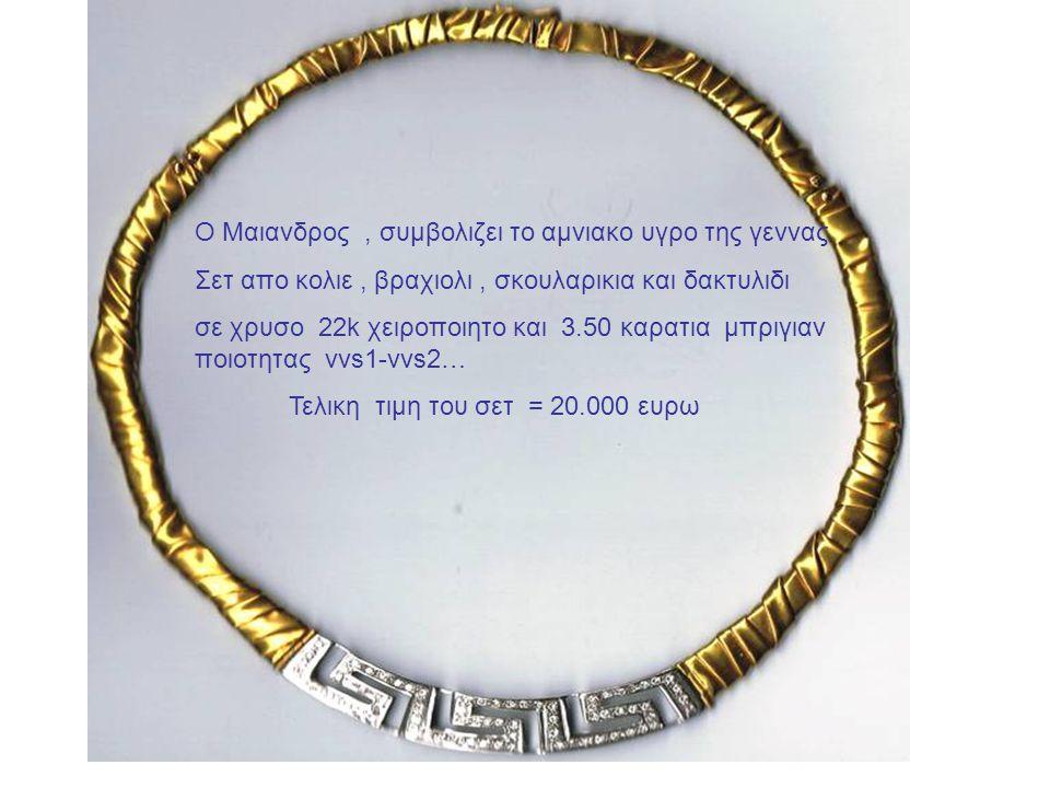 Ο Μαιανδρος , συμβολιζει το αμνιακο υγρο της γεννας