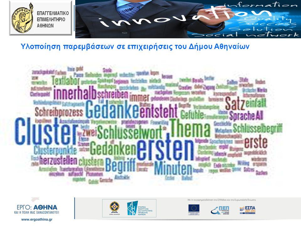 Υλοποίηση παρεμβάσεων σε επιχειρήσεις του Δήμου Αθηναίων