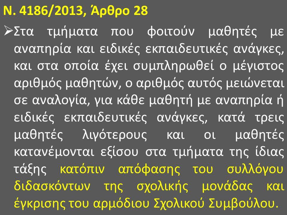 Ν. 4186/2013, Άρθρο 28