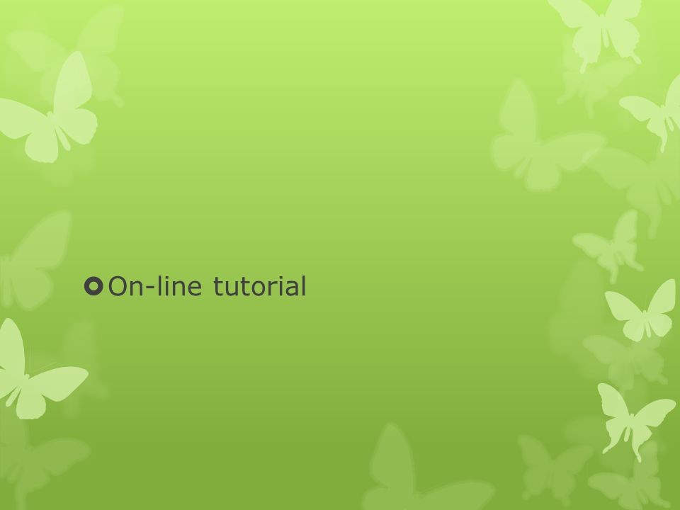 On-line tutorial