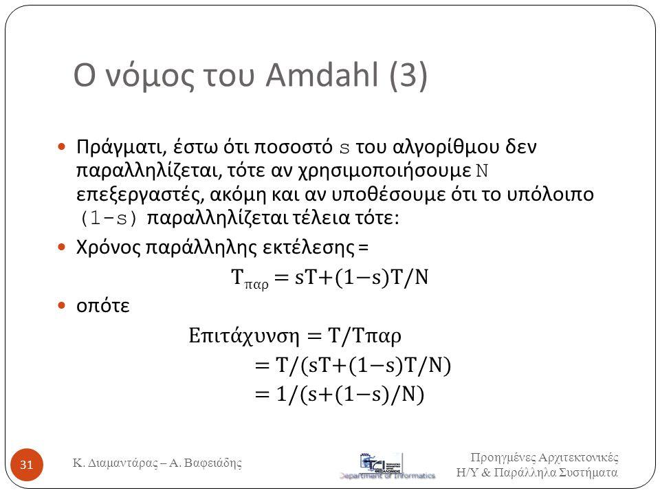 Ο νόμος του Amdahl (3)