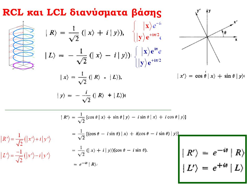 RCL και LCL διανύσματα βάσης
