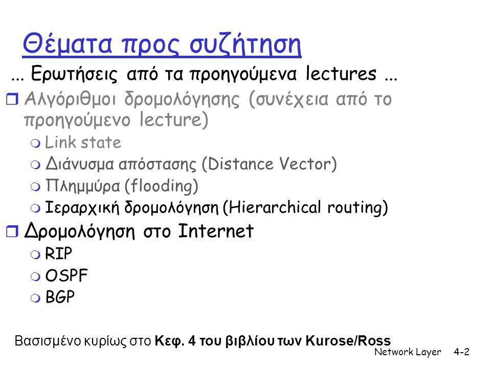 Θέματα προς συζήτηση ... Ερωτήσεις από τα προηγούμενα lectures ...