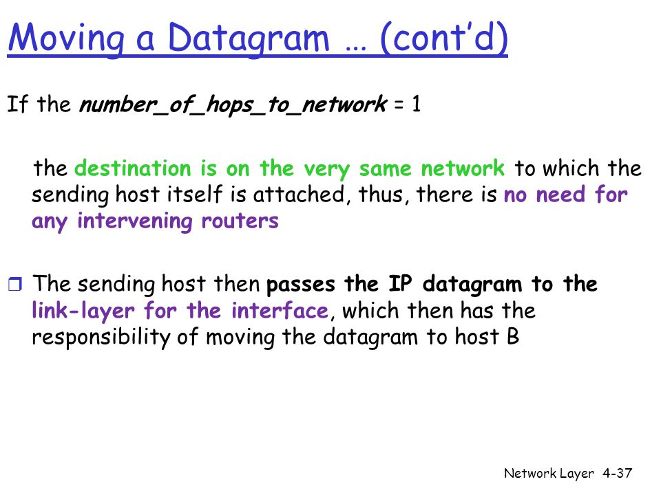 Moving a Datagram … (cont'd)