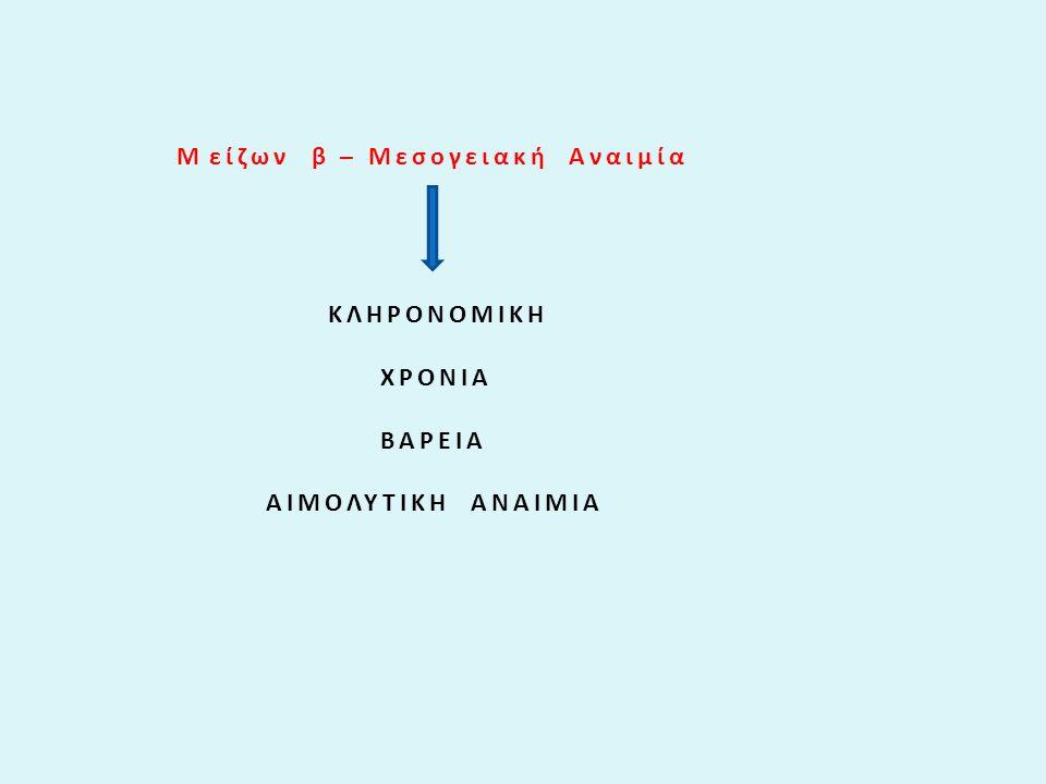 Μ είζων β – Μεσογειακή Αναιμία
