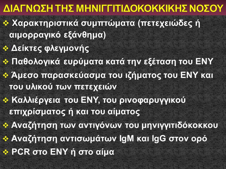 ΔΙΑΓΝΩΣΗ ΤΗΣ ΜΗΝΙΓΓΙΤΙΔΟΚΟΚΚΙΚΗΣ ΝΟΣΟΥ