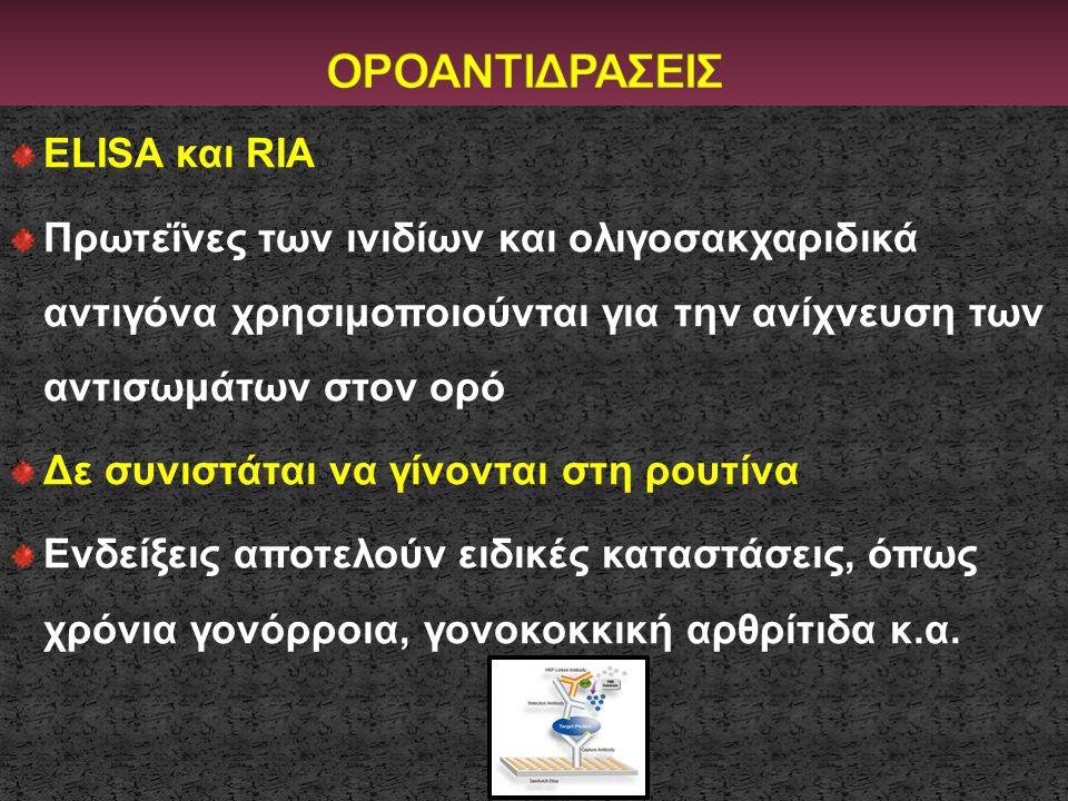 ΟΡΟΑΝΤΙΔΡΑΣΕΙΣ ELISA και RIA