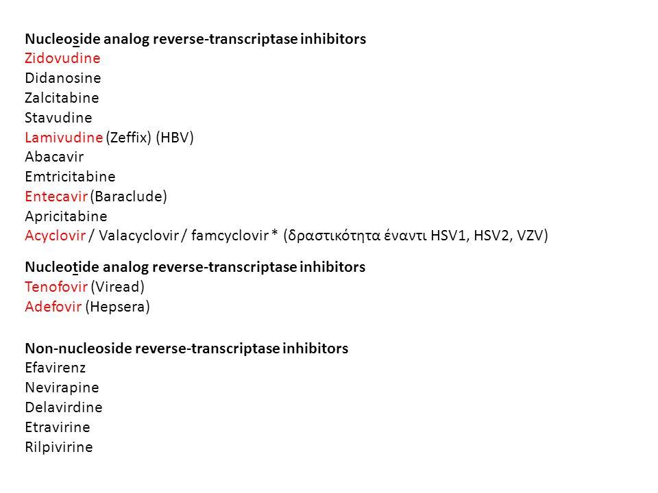 Nucleoside analog reverse-transcriptase inhibitors