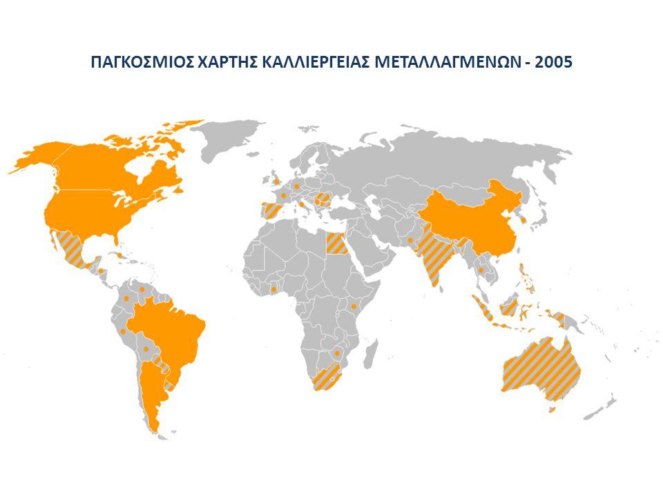ΠΑΓΚΟΣΜΙΟΣ ΧΑΡΤΗΣ ΚΑΛΛΙΕΡΓΕΙΑΣ ΜΕΤΑΛΛΑΓΜΕΝΩΝ - 2005