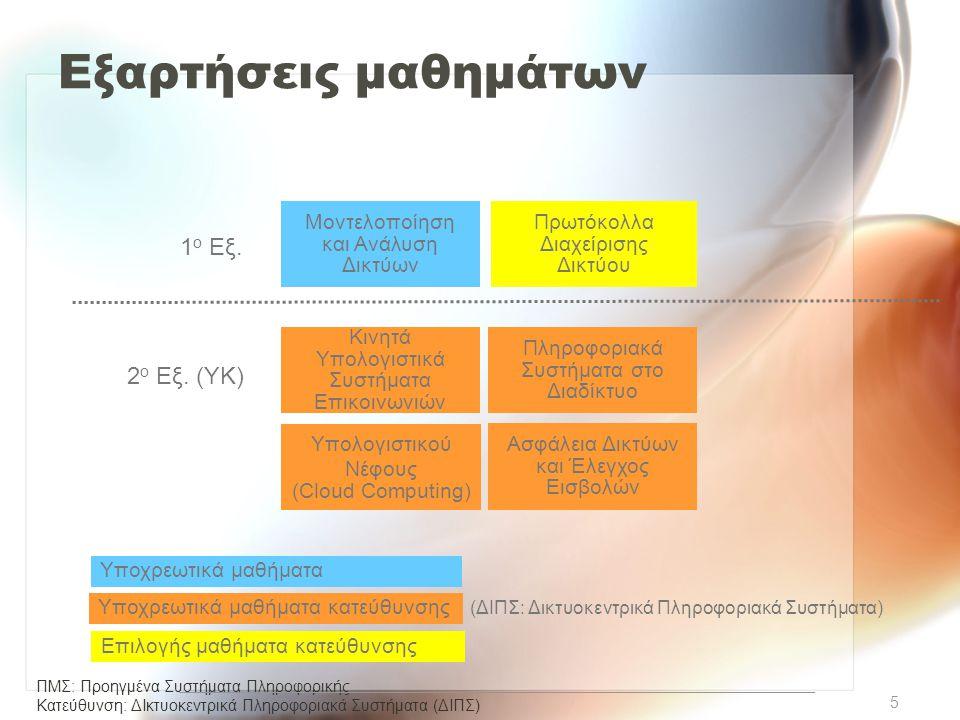 Εξαρτήσεις μαθημάτων 1ο Εξ. 2ο Εξ. (ΥΚ)