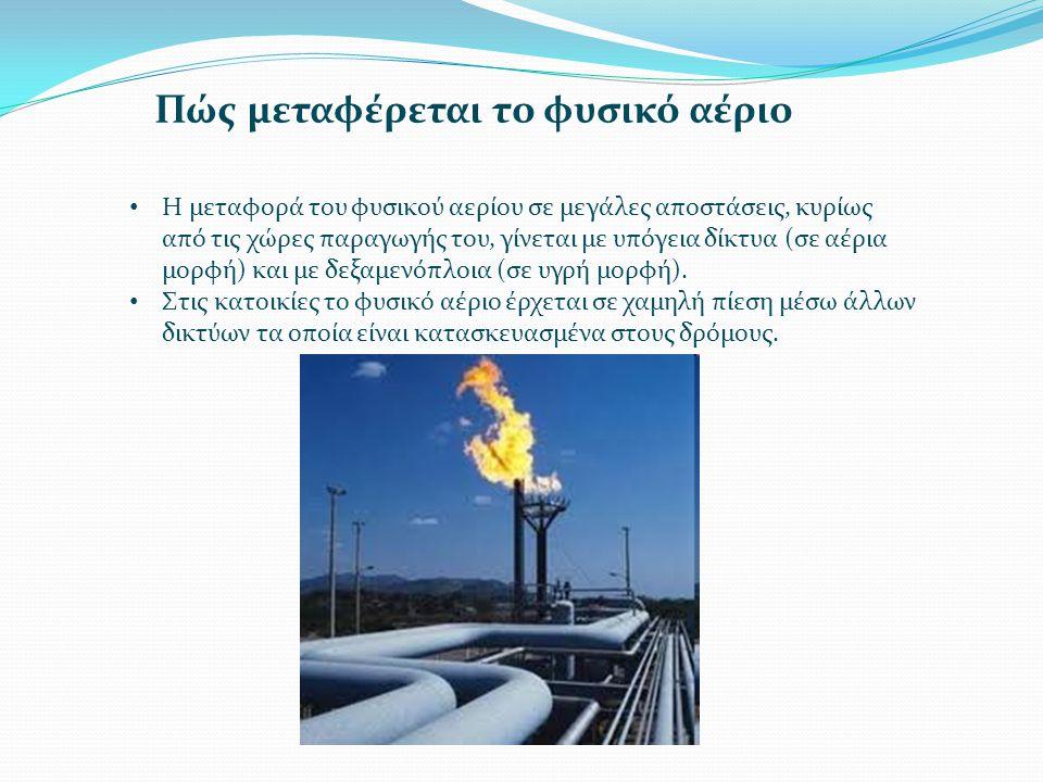 Πώς μεταφέρεται το φυσικό αέριο