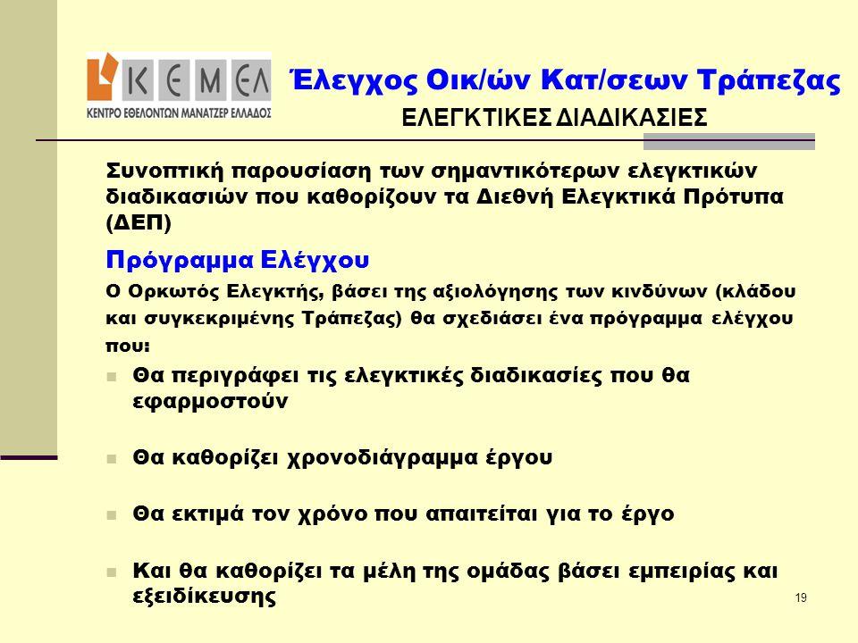 ΕΛΕΓΚΤΙΚΕΣ ΔΙΑΔΙΚΑΣΙΕΣ