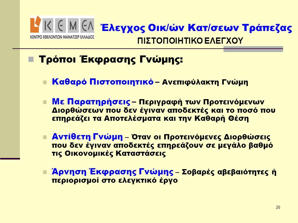 ΠΙΣΤΟΠΟΙΗΤΙΚΟ ΕΛΕΓΧΟΥ