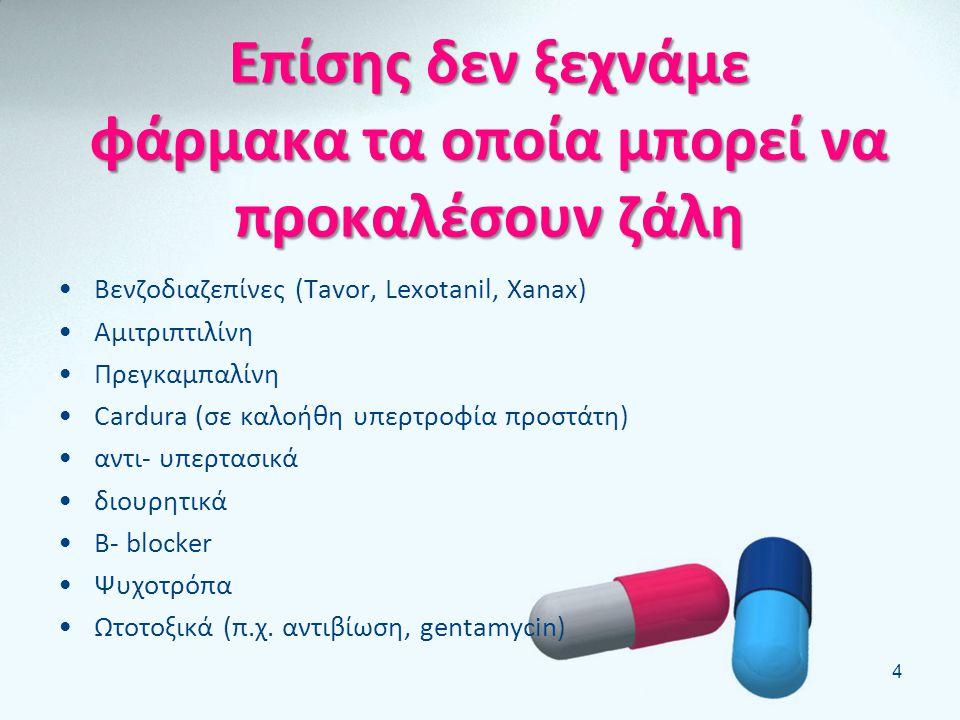 Επίσης δεν ξεχνάμε φάρμακα τα οποία μπορεί να προκαλέσουν ζάλη