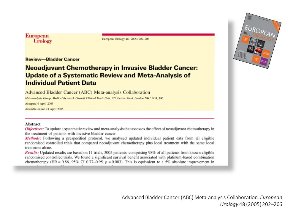 Advanced Bladder Cancer (ABC) Meta-analysis Collaboration