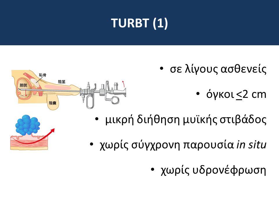 TURBT (1) σε λίγους ασθενείς όγκοι <2 cm