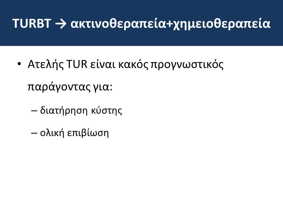 TURΒΤ → ακτινοθεραπεία+χημειοθεραπεία