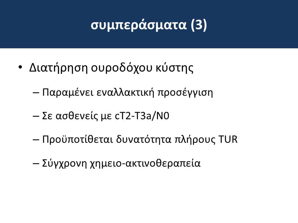 συμπεράσματα (3) Διατήρηση ουροδόχου κύστης