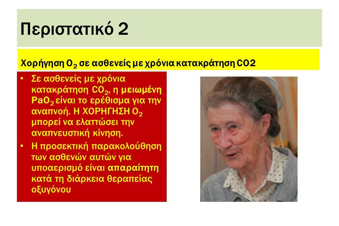 Περιστατικό 2 Χορήγηση Ο2 σε ασθενείς με χρόνια κατακράτηση CO2