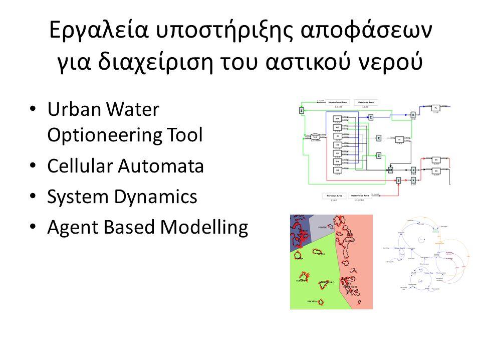 Εργαλεία υποστήριξης αποφάσεων για διαχείριση του αστικού νερού