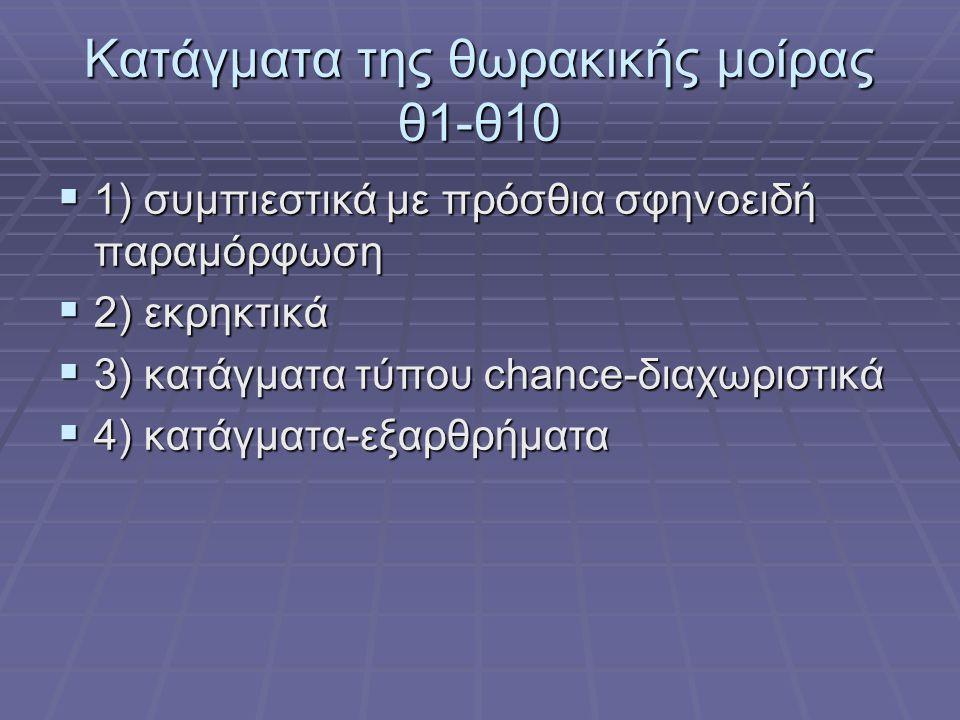Κατάγματα της θωρακικής μοίρας θ1-θ10