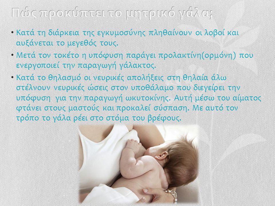 Πώς προκύπτει το μητρικό γάλα;