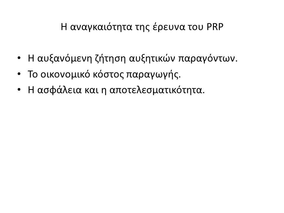 Η αναγκαιότητα της έρευνα του PRP