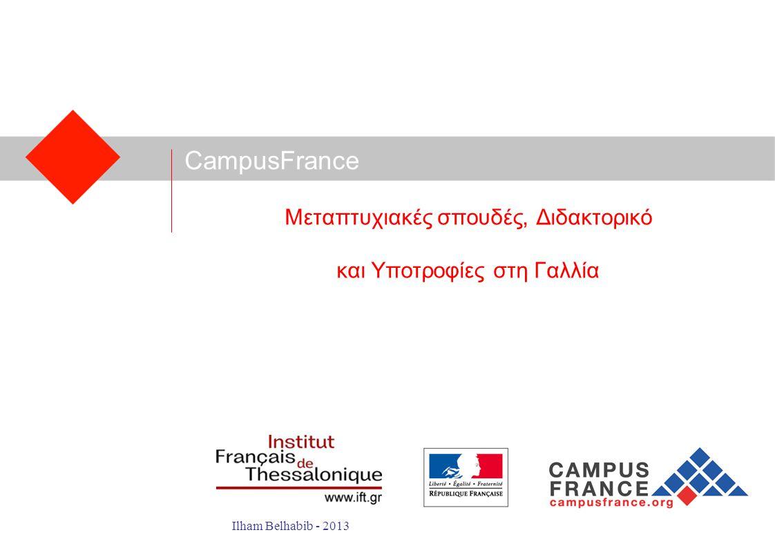 Μεταπτυχιακές σπουδές, Διδακτορικό και Υποτροφίες στη Γαλλία