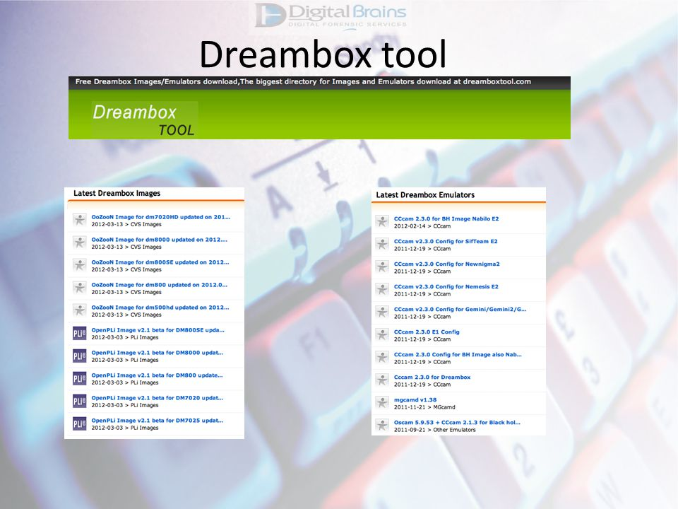 Dreambox tool