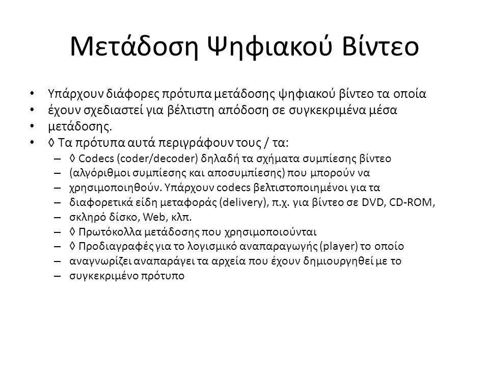 Μετάδοση Ψηφιακού Βίντεο