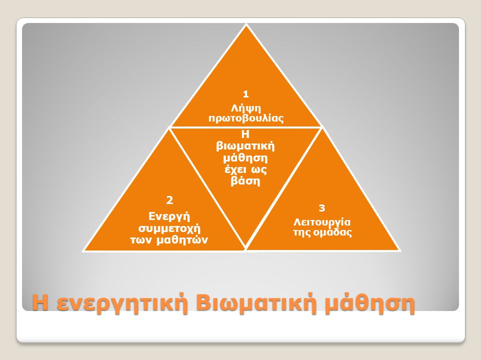 Η ενεργητική Βιωματική μάθηση