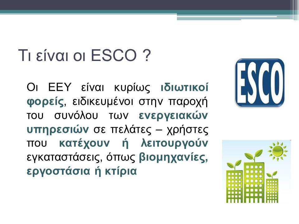 Τι είναι οι ESCO