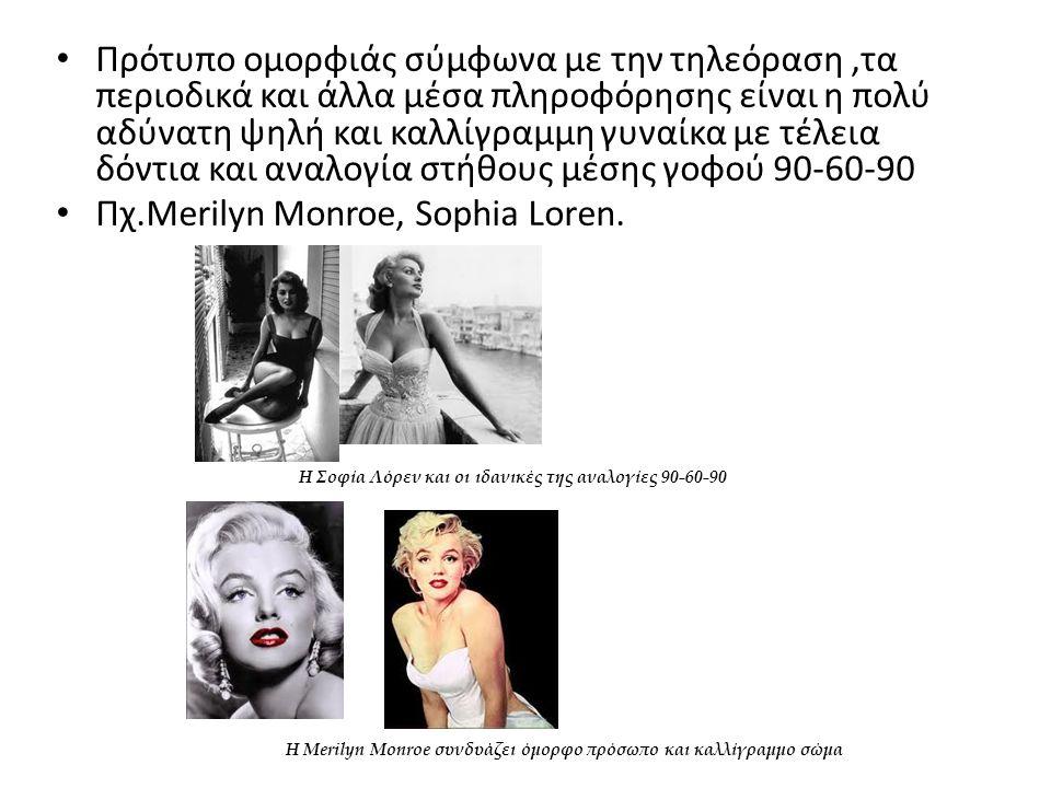Πχ.Merilyn Monroe, Sophia Loren.
