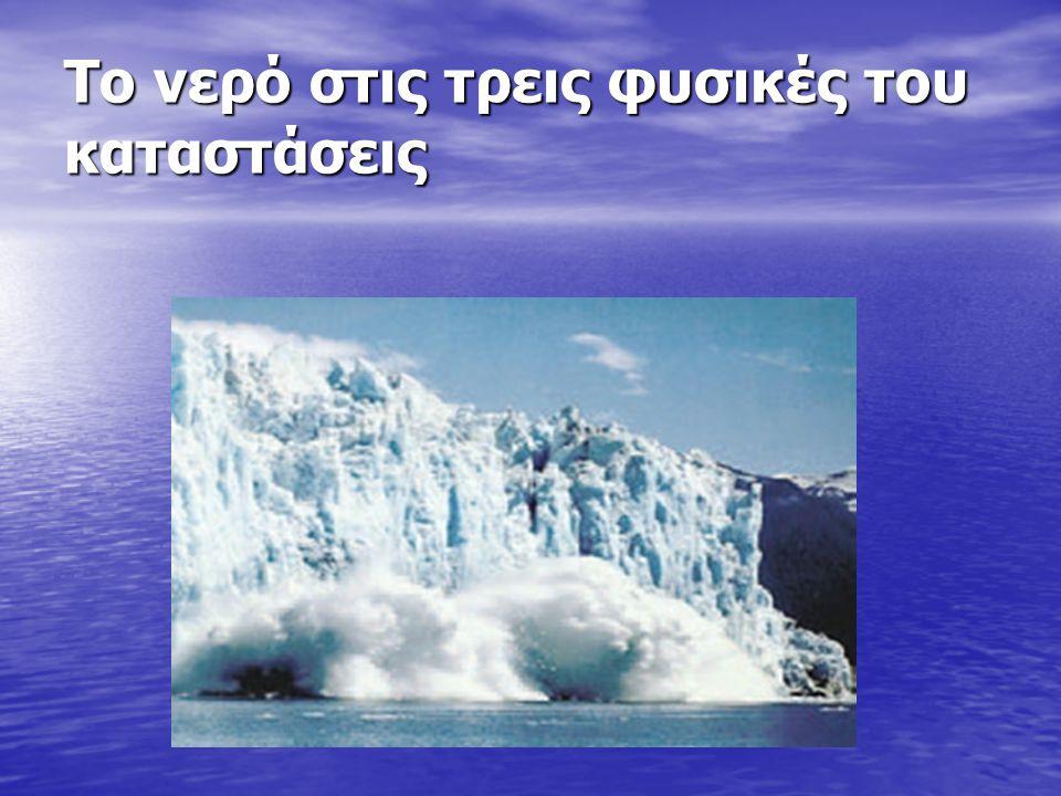 Το νερό στις τρεις φυσικές του καταστάσεις