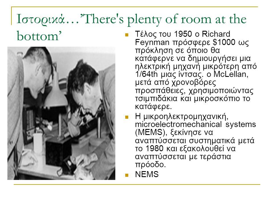 Ιστορικά…'There s plenty of room at the bottom'