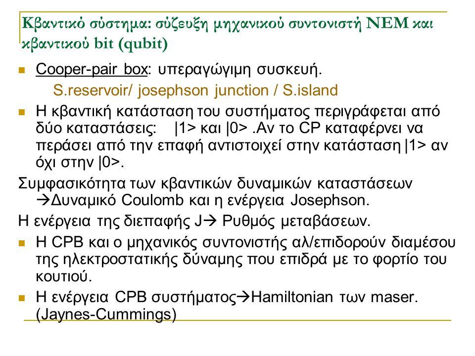 Κβαντικό σύστημα: σύζευξη μηχανικού συντονιστή NEM και κβαντικού bit (qubit)