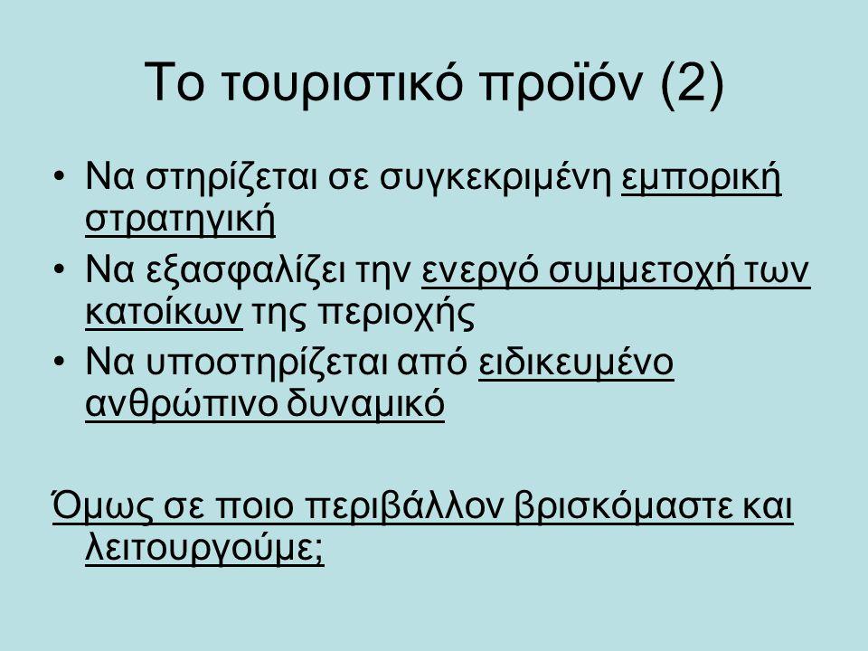 Το τουριστικό προϊόν (2)