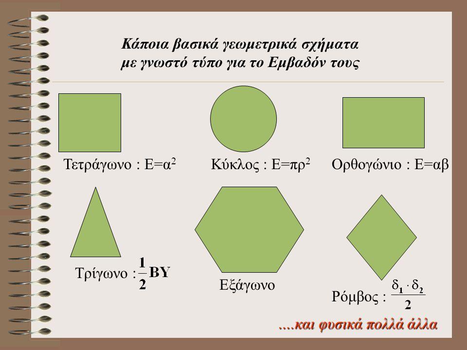 Κάποια βασικά γεωμετρικά σχήματα