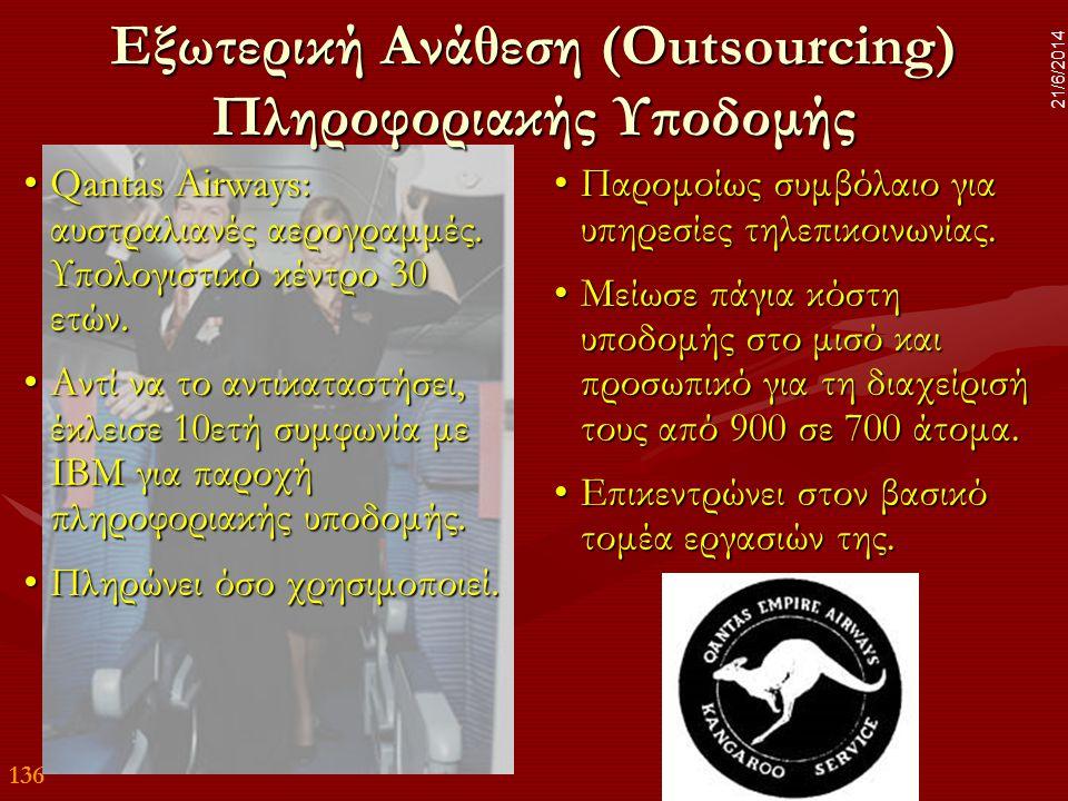 Εξωτερική Ανάθεση (Outsourcing) Πληροφοριακής Υποδομής