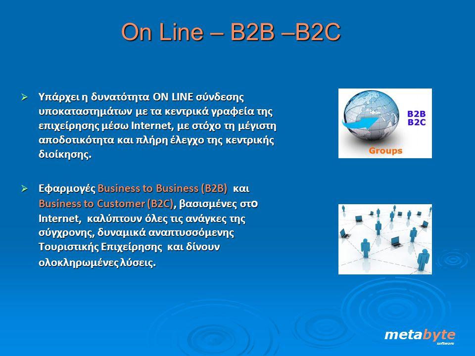 Οn Line – Β2Β –B2C metabyte