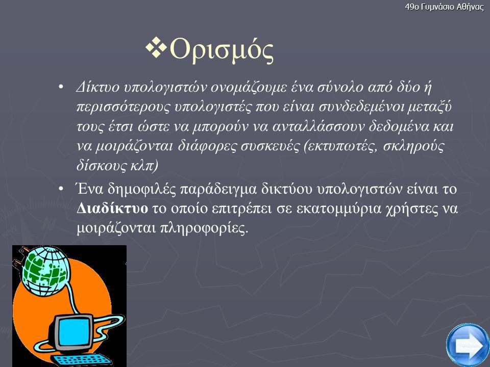 49ο Γυμνάσιο Αθήνας Ορισμός.