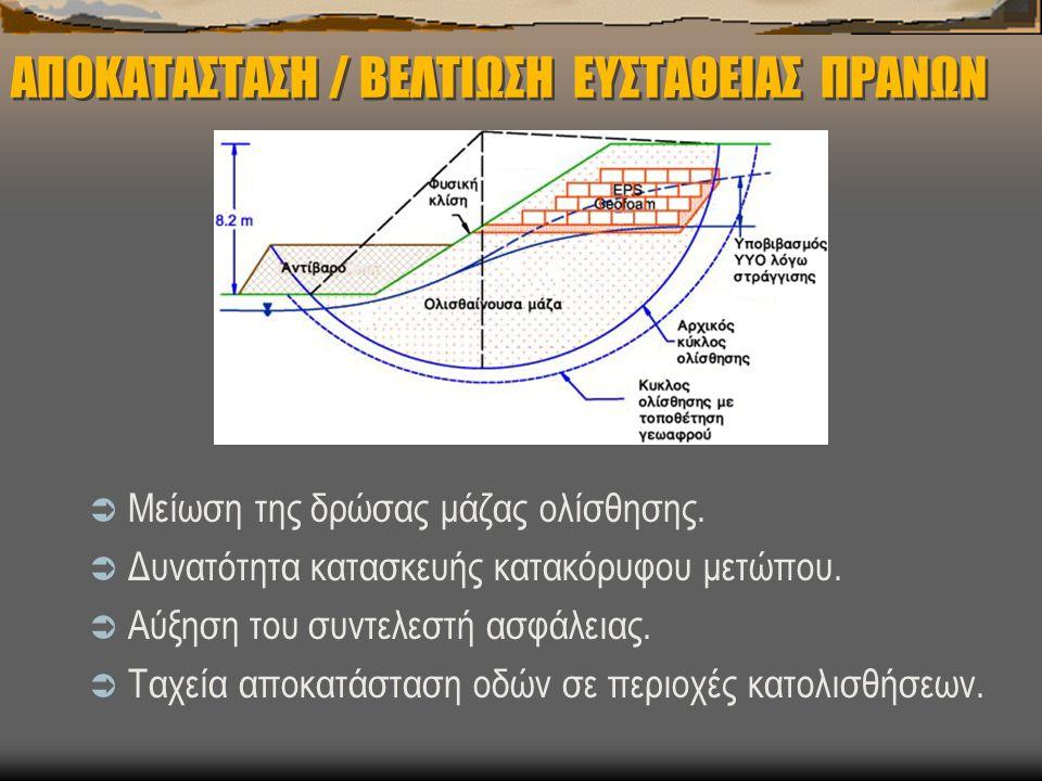 ΑΠΟΚΑΤΑΣΤΑΣΗ / ΒΕΛΤΙΩΣΗ ΕΥΣΤΑΘΕΙΑΣ ΠΡΑΝΩΝ