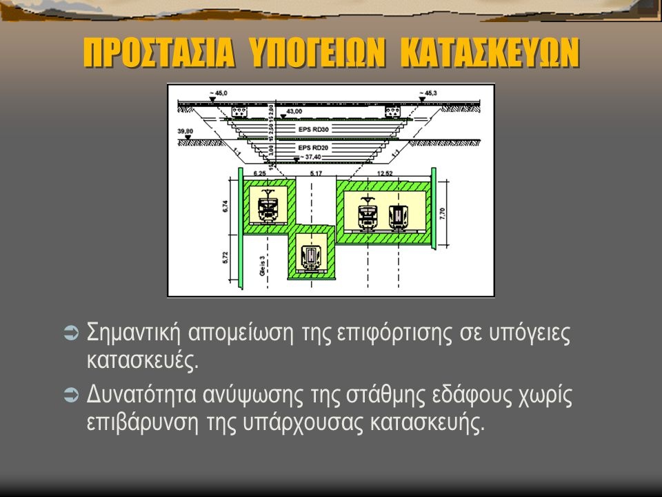 ΠΡΟΣΤΑΣΙΑ ΥΠΟΓΕΙΩΝ ΚΑΤΑΣΚΕΥΩΝ