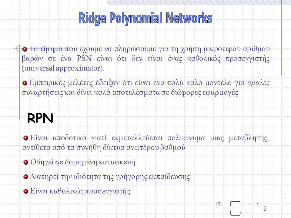 Ridge Polynomial Networks