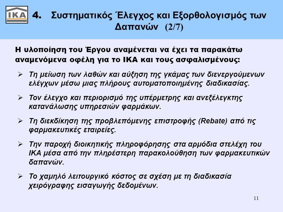 4. Συστηματικός Έλεγχος και Εξορθολογισμός των Δαπανών (2/7)