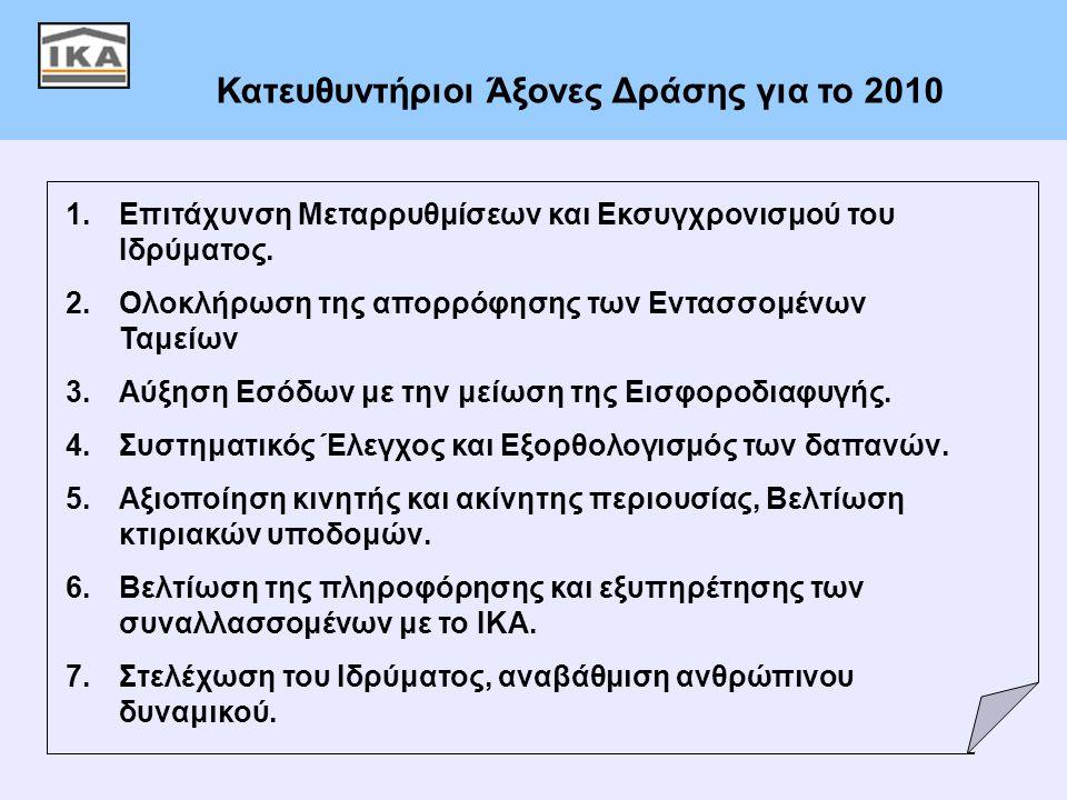 Κατευθυντήριοι Άξονες Δράσης για το 2010