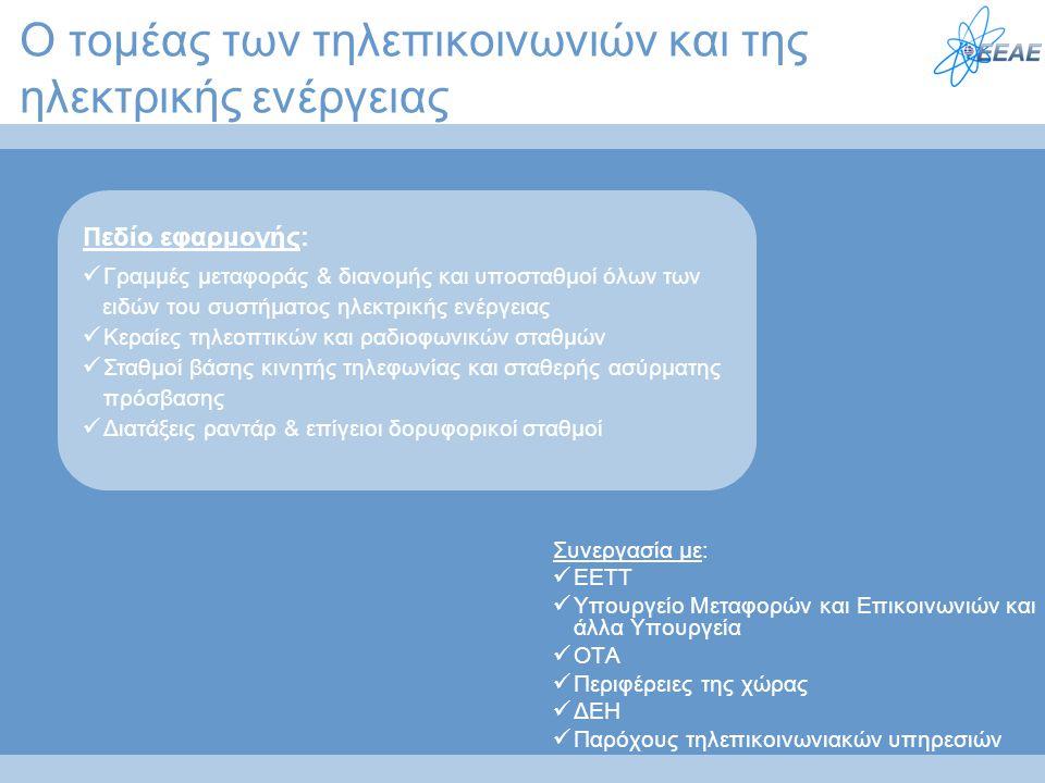 Ο τομέας των τηλεπικοινωνιών και της ηλεκτρικής ενέργειας