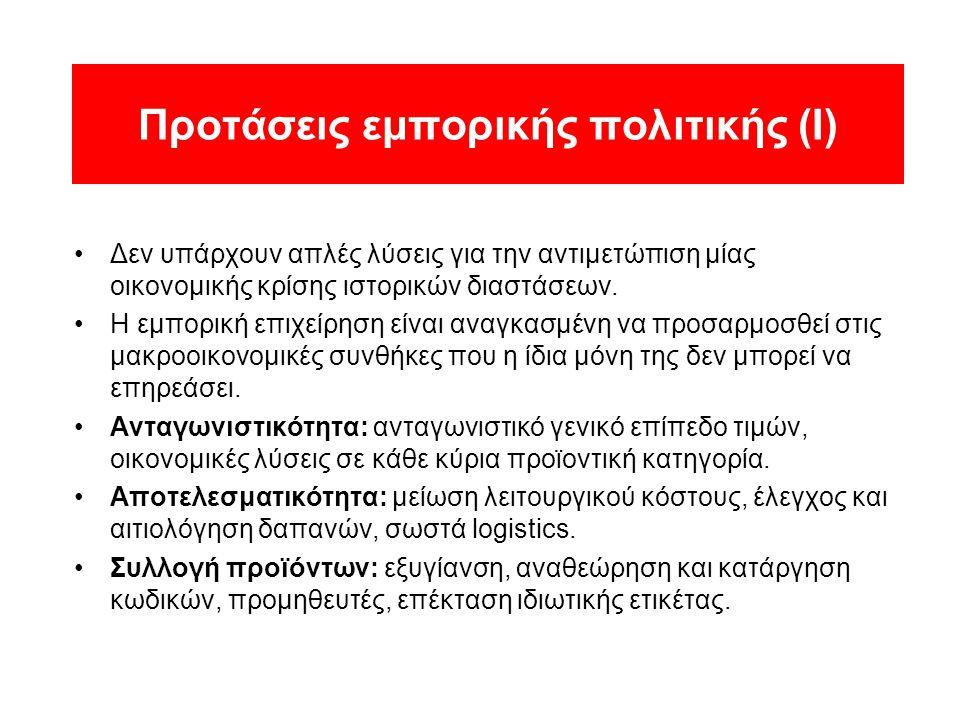 Προτάσεις εμπορικής πολιτικής (Ι)